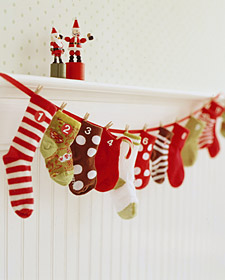 Calendrier avent chaussettes